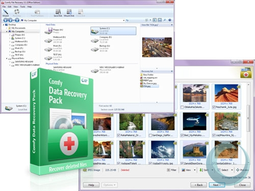 Click to view Comfy Data Recovery Pack 3.0 screenshot